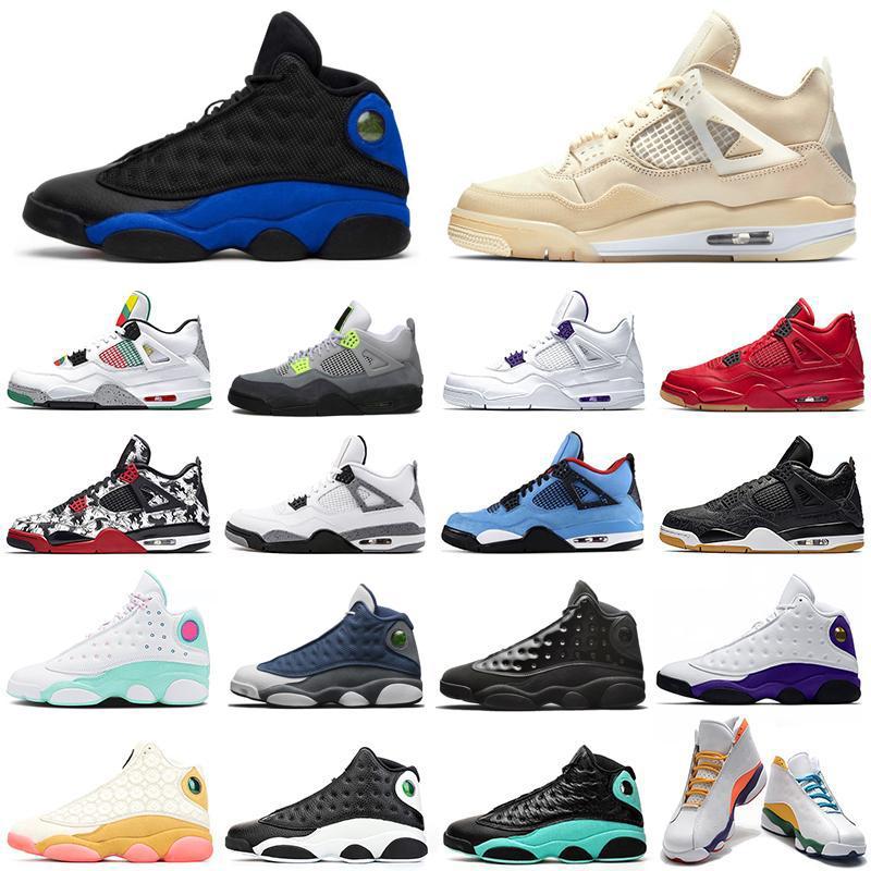 air jordan retro Rivales verde afortunado zapatos de baloncesto de los hombres 13 13s casquillo y del vestido Negro Gato para hombre de las zapatillas de deporte de los deportes