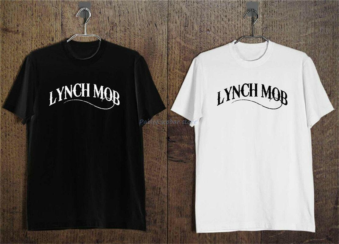 Lynch Mob Wicked Sensation lourde Metal Band Vêtements pour hommes T-shirt noir et blanc de New Cool T-shirt