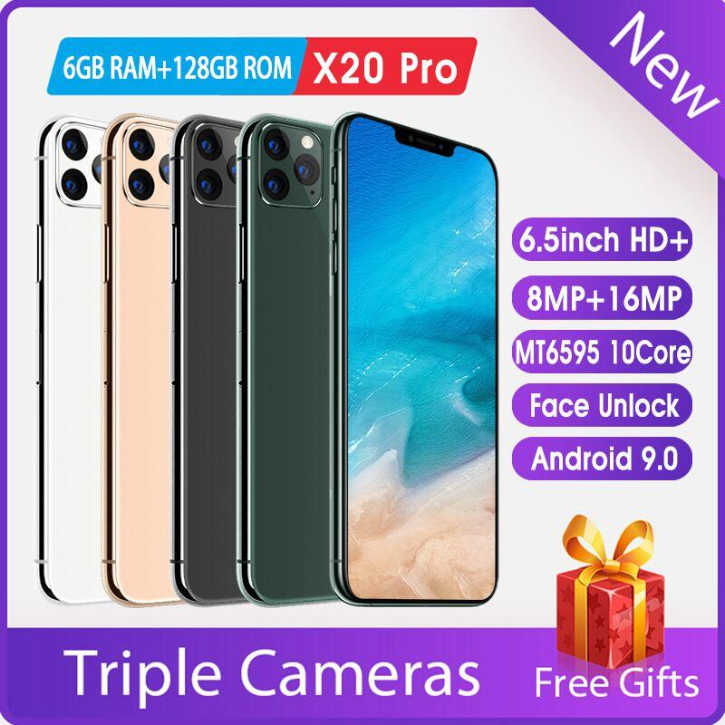 Модели SPOT смартфона X20Pro большого экрана 6,5 большого экран 6,5 дюйма Unicom 3G Android 6 + 128 недорогих оптовая приграничный мобильный телефон