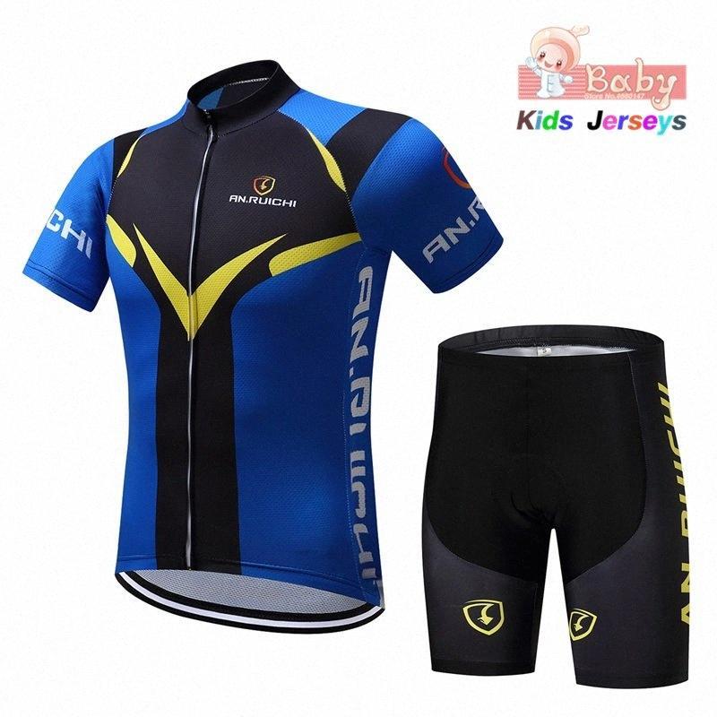 2020 2020 niños de la bici ropa fresca del verano Niños Jersey de ciclo cortocircuitos 3D gel acolchado transpirable de secado rápido Trajes Pro Cycling muchacha niño yHf3 #