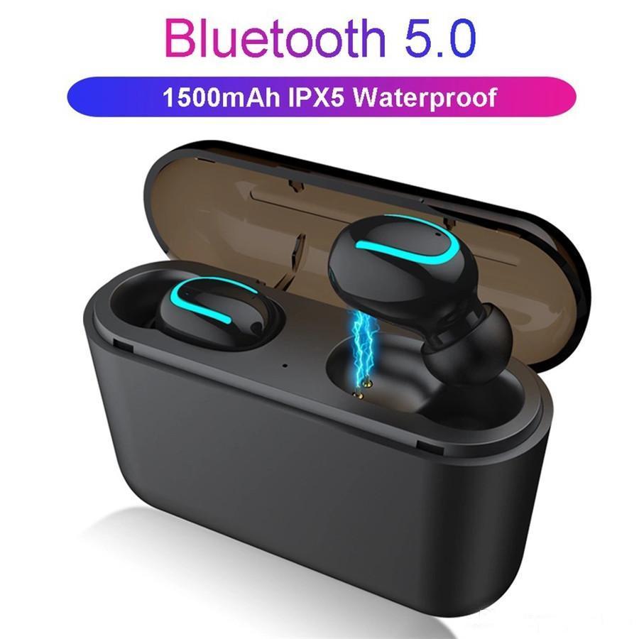 Q32 블루투스 5.0 무선 이어폰 이어폰 스포츠 미니 헤드폰 1500mAh 충전기 모든 폰에 대 한 PowerBank 헤드셋 1pcs