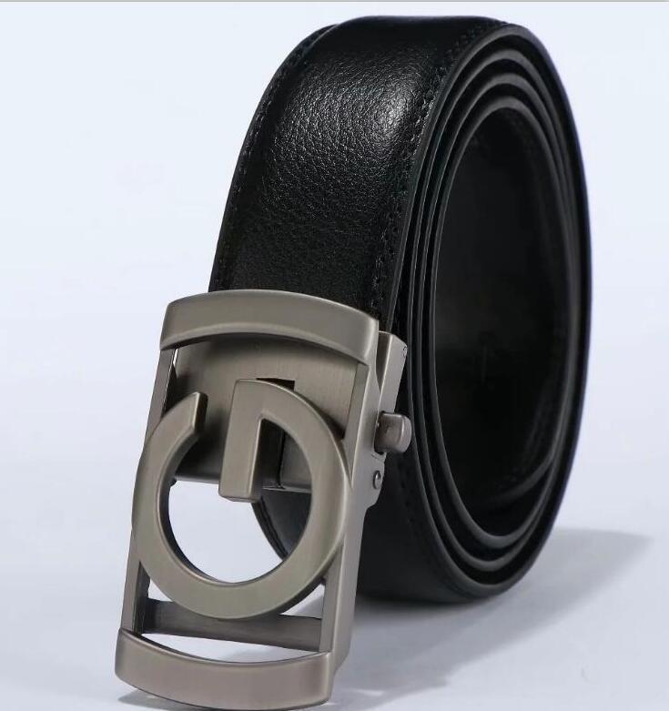 Famous Brand Belt New Male Designer Automatic Buckle Pele de vaca cintos de Luxo homens Correia de couro para homens vv