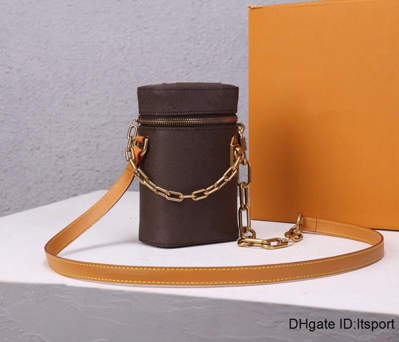 2020 Marka L Moda marka lüks omuz çantası tasarımcı çanta, mini zincir kova çanta çapraz vücut çanta ücretsiz gönderim tuvaline