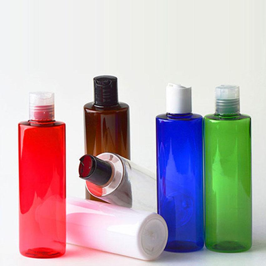 250 ml Kunststoff-Cosmetic Container Disc Cap Gesicht Topf Foundation Essence Lotion Jars Spielraum-Speicher-Flaschen DHE101