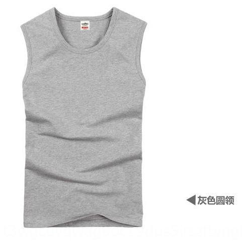 Wide-ombro T-shirt sem mangas apertado Magro t-shirt respirável de algodão de verão da juventude masculina colete colete de esportes de fitness colete maré