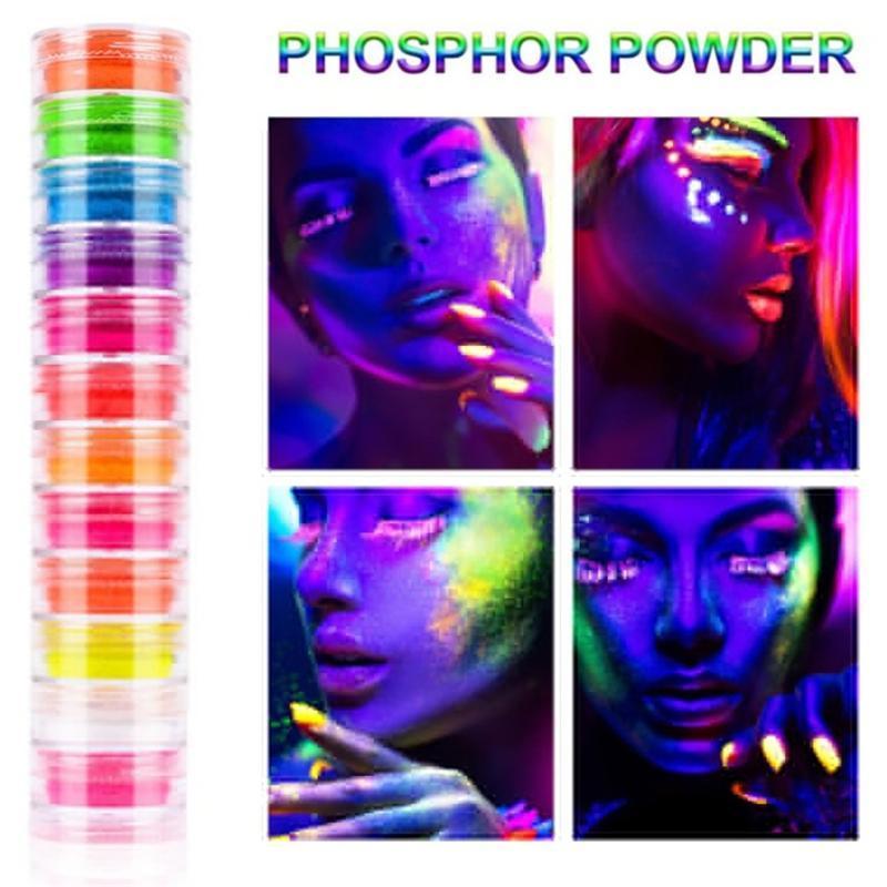 12box / Set di bellezza smaltato di trucco gamma di Pallete fluorescente Highlighter luccichio compone il kit Pigment Eyeshadow Palette Cosmetics