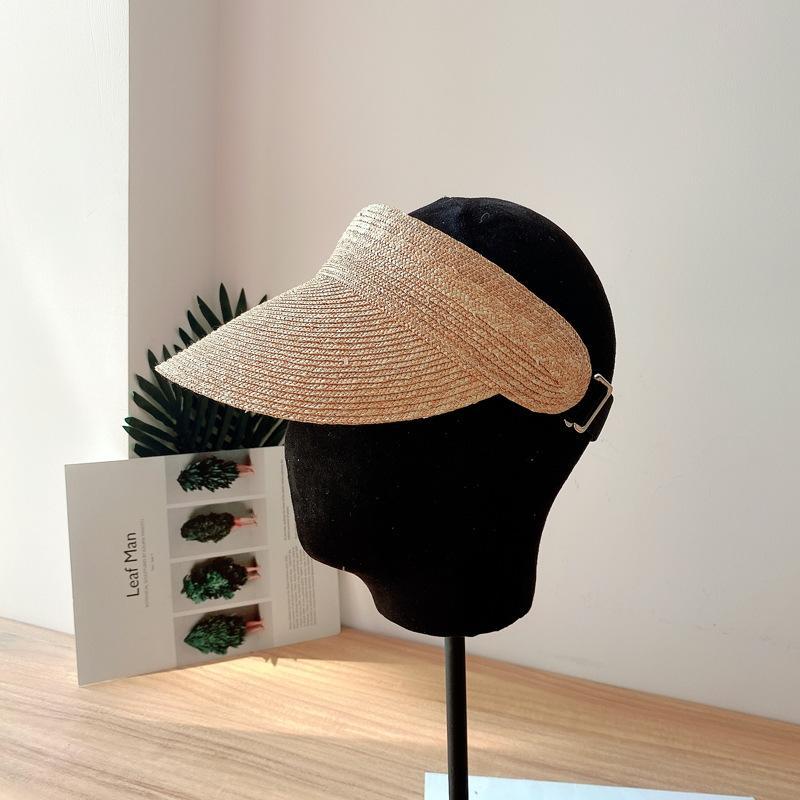 Wc5Sm 2020 tapa de aleta adicional apuntó al aire libre a prueba de sol y sombrero de paja del sol-shading del todo-fósforo superior odio paja simples superior vacío del sombrero de los niños alcanzó su punto máximo