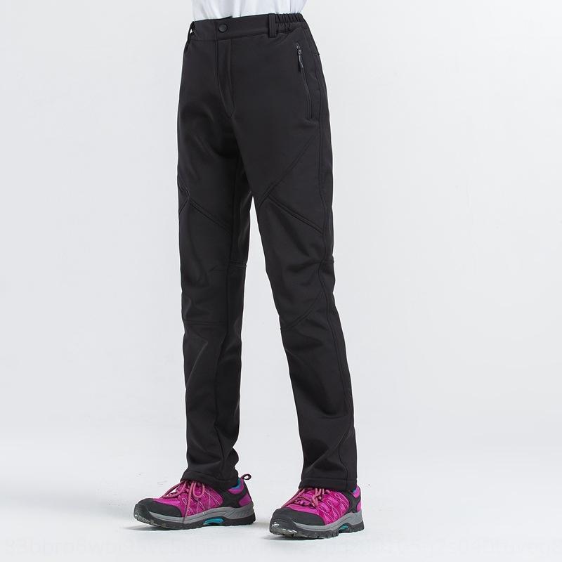 sJGmK мужские и открытый мягкий Мужчины Женщины на открытом воздухе Velvet женщин оболочки высокие дышащие мягкие брюки оболочки альпинистские брюки утолщена бархат 1