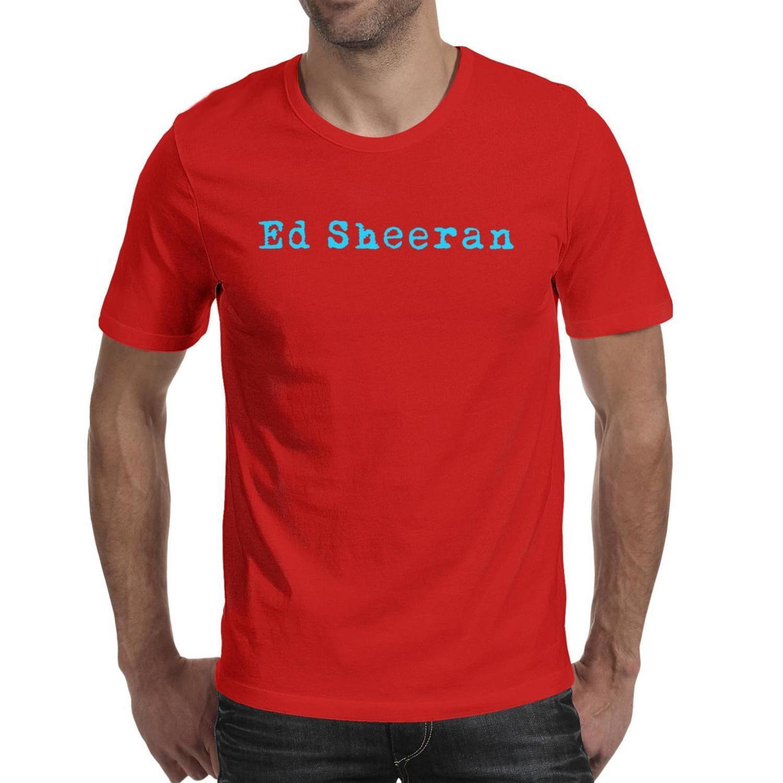 Moda Hombres Ed Sheeran logotipo BULE negro de cuello redondo T camisa Diseño camisas verde linda NARANJA seguir al autor Ed Sheeran bandera Divide