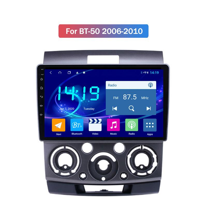 4G+64G 10 Inch Touch Screen Android Auto GPS Navigation System Video Radio Stereo Audio Car Dvd Player for Mazda BT-50 2006-2010