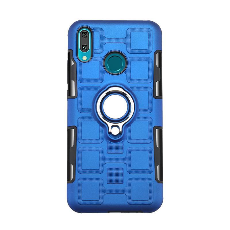 Lusso staffa dell'anello antiurto di caso per Huawei P30 P20 Mate 10 Lite di caso per Huawei Y9 Y7 Primo Y6 Pro 2019 P intelligente Y5 2018 Caso