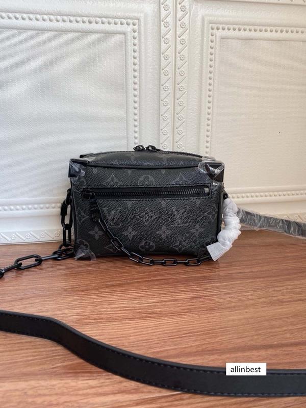 en kaliteli mektup hakiki deri kadın çanta erkekler mesaj çanta kadın kemer çantası 18.5-13-8cm M68906 M44480 03