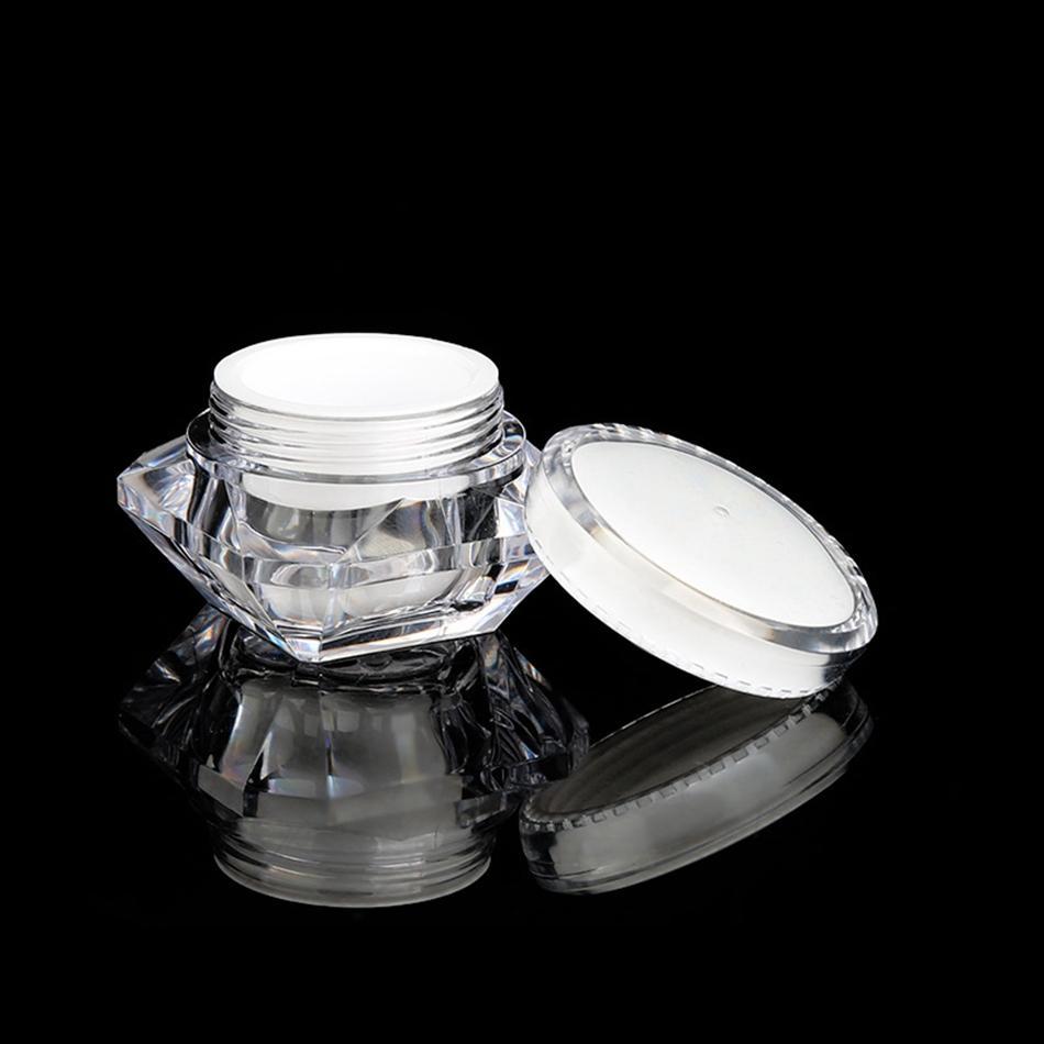 15г / мл Алмазный Стиль Пот Акриловые Косметические Empty Jar Eyeshadow Косметика Крем для лица Бальзам для губ Контейнер бюкса Упаковка LJJP125