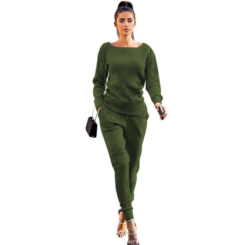 2020 Autumn Suit Women's Tracksuit Clothing Casual Sport Tops And Pants Two Piece Set Women O Neck Long Sleeve Sportswear Set