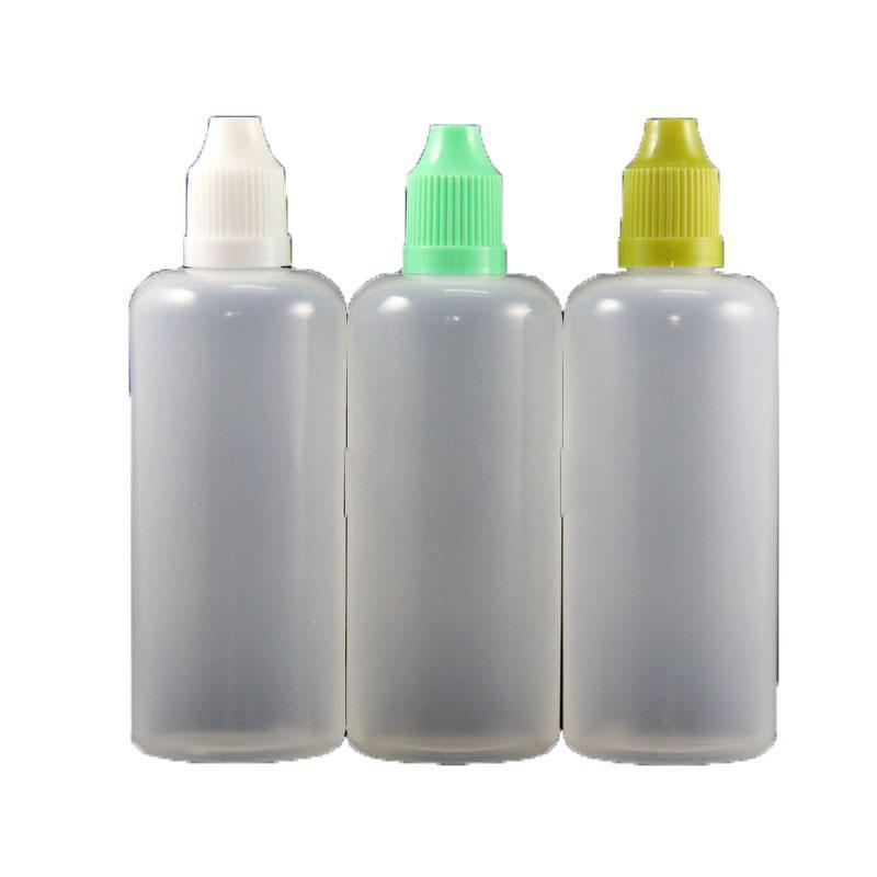 Botellas de plástico de plástico LDPE con a prueba de niños Tapas seguras Tips Spreeezable Botella Largo Nipple