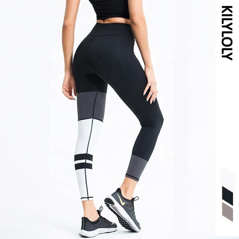 2020 nouvelles femmes rayé imprimé Leggings Gym Push Up Booty Pantalon de yoga de levage Gym Fitness Porter Sport Courir pour la séance d'entraînement