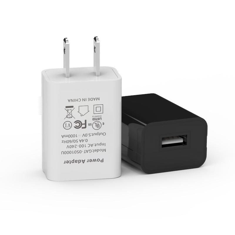 UL-Ladegerät 5V 1 A US Stecker-Wandaufladeeinheit Energien-Adapter-Spielraum-Ausgangs-Wechselstrom-Adapter Einzel Port-Ladegerät Universal für iphone Samsung Android-Handy