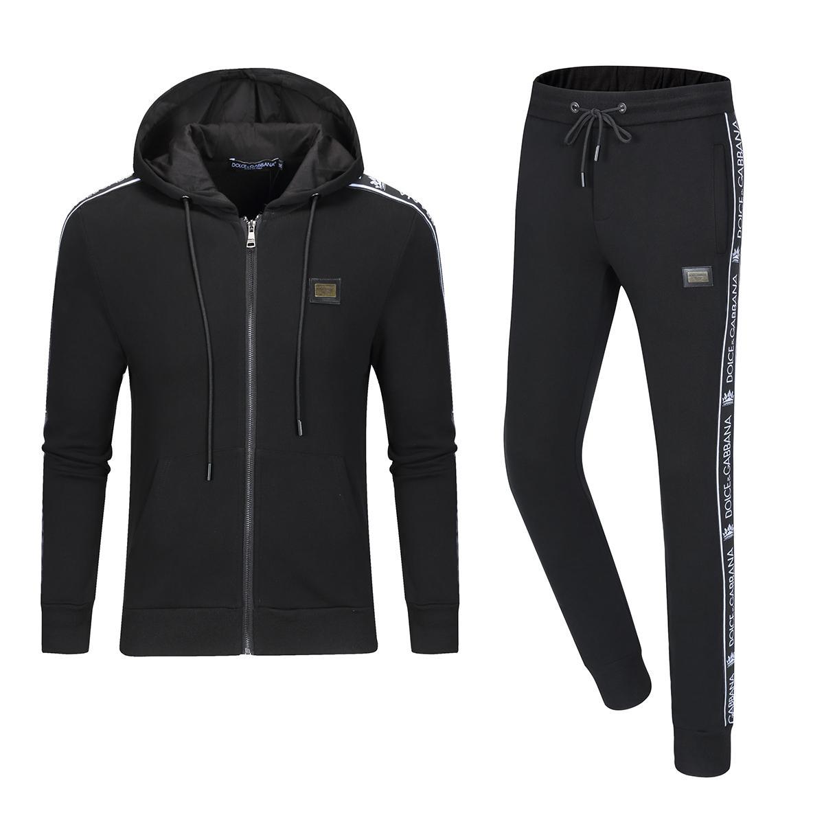 2020 남성 필립 일반 슬림 럭셔리 스포츠-H2 인쇄 남성 스포츠 정장 편지를 실행 긴 소매 운동복 재킷 세트 패션에 맞는