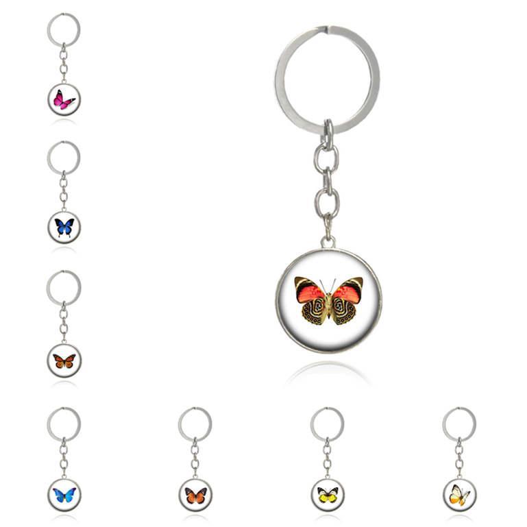 DHL epacket livraison gratuite temps papillon Creative porte-clés gemme DMKR204 mélange porte-clés de commande Keychain Porte-clés