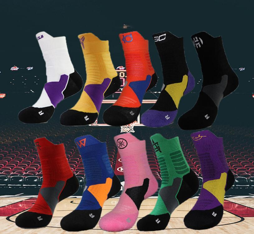 High Quality Basketball Socks Men's Towel Bottom Non-Slip Sports Socks Terry Outdoor Designer Men Elite Sock Quick-Drying Running Socks