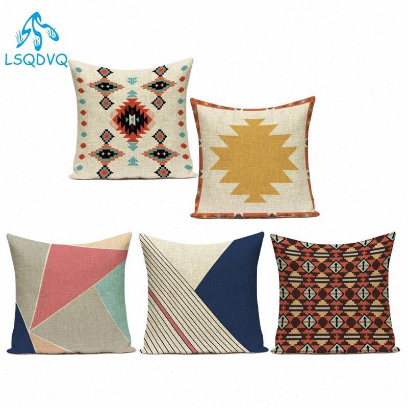 Красочные Boho Геометрическая Mandala Декоративные подушки чехол хлопок белье нашивки Диван Подушка Обложка для гостиной наволочки крышки aiMh #