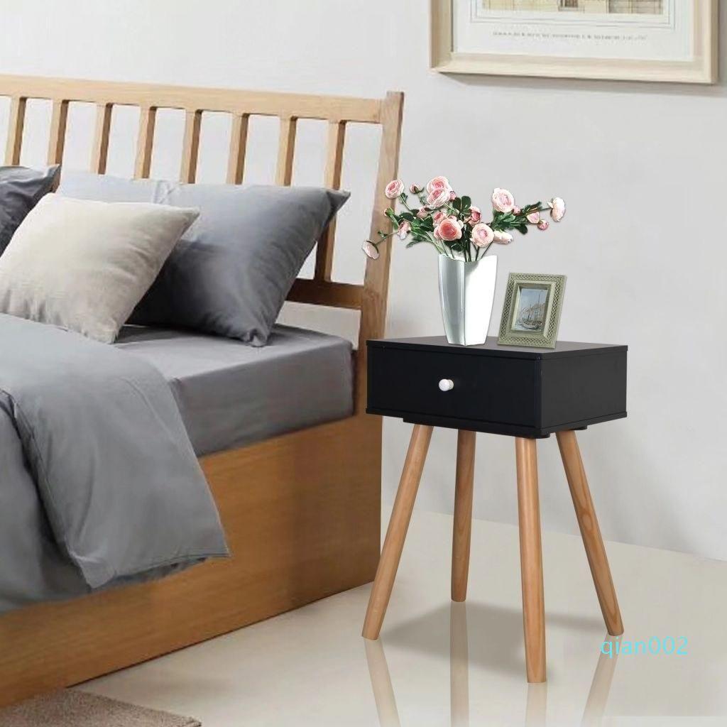 Bedside tables 2 pcs. solid pine wood 40x30x61 cm black Dining Room Furniture