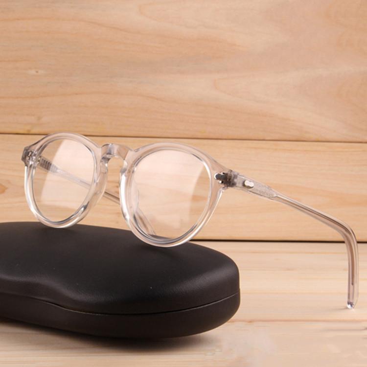 2020 ذات جودة عالية والنظارات البصرية إطار 46-23-145 نقية لوح وجه صغير كامل حافة النظارات الطبية إطار كامل مجموعة حالة FREESHIPPING