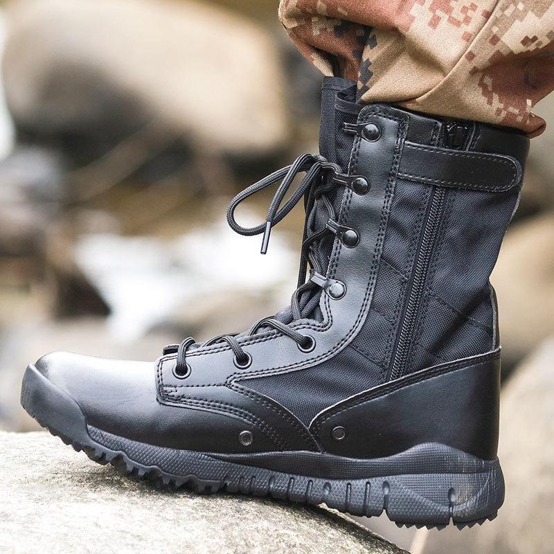 Nouvelle guerre guerre crochet CQB et boucle côté corde résistant à l'usure Déroulez bottes de combat d'escalade bottes de combat spéciales