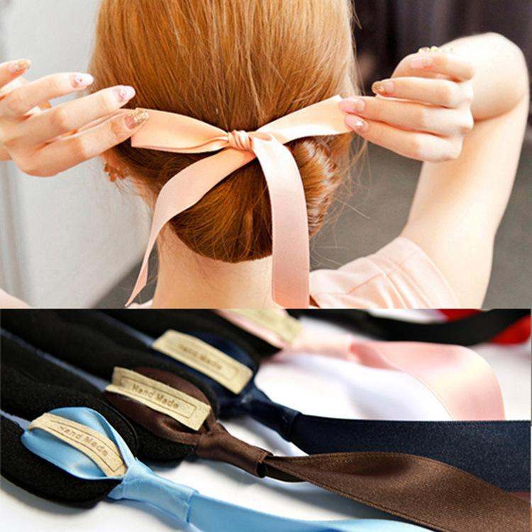 Sweet Candy Ponytail Holders Fashion Bowknot Pony Tail Hair Rope Accessories for Women Girls Hair Styling Tools
