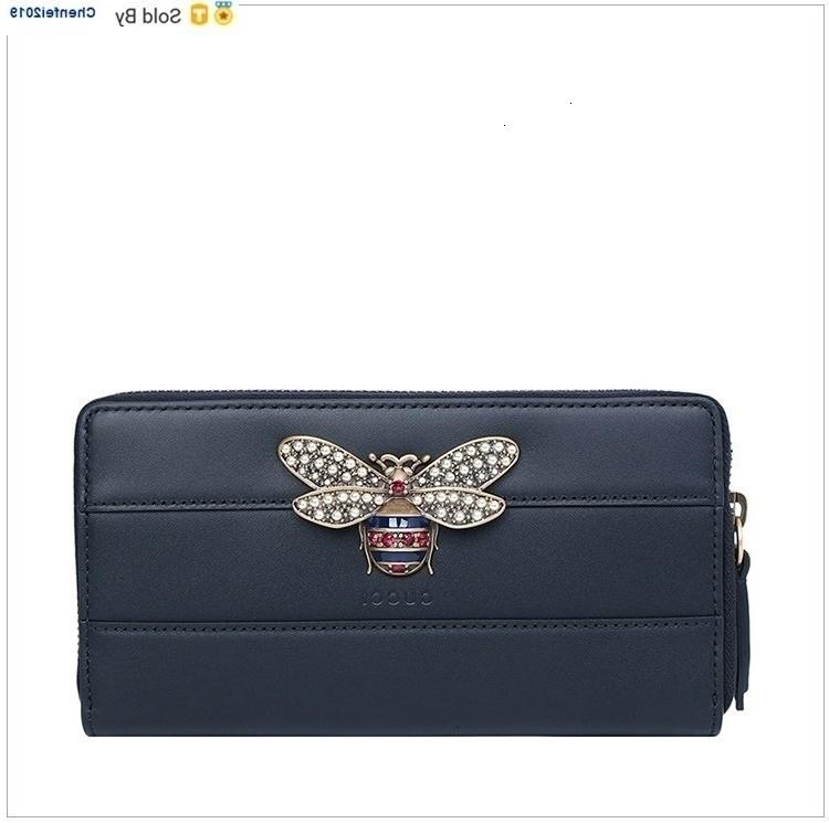 chenfei2019 49CR Leather Diamonds Bee Wallet Totes Handbags Shoulder Bags Backpacks Wallets Purse s