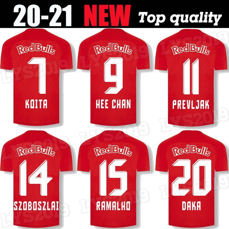 2020 RBS Daka Soccer Jersey Home Ashimeru Koita Hee Chan Camicie da calcio Salisburgo Prevljak Szoboszlai Ramalho Uniforme di calcio Allenamento 20 21