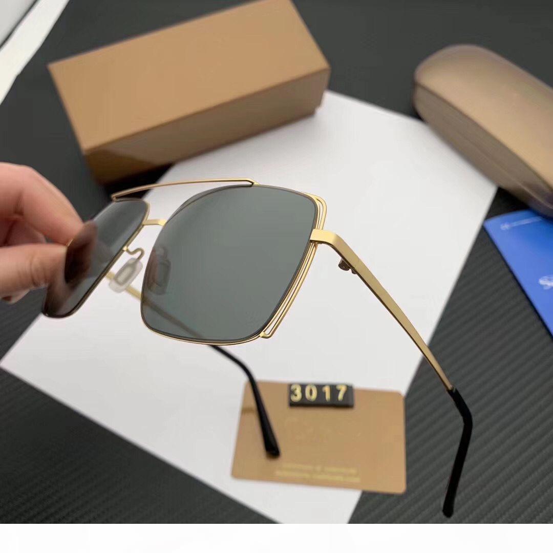 HOT neue Sonnenbrille MENS-FRAUEN- AUFMASS DARK SONNENBRILLEN Frames Frauen der Männer Sonnenbrille Metallschild Gold Frame Sonnenbrille MAN SPORT sunglas