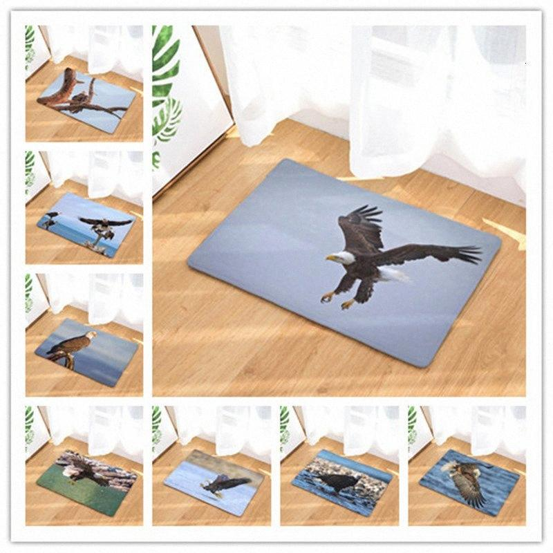Eagle Printing Land Mat Коврик Главная Doormat Спальня Душевая Кухня Туалет Strip Вода Усвоение Non скольжению Напольное ковровое покрытие узорной Ковры b6oH #