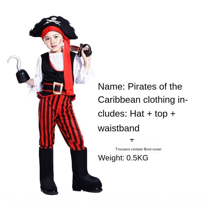 loFhU Cadılar Bayramı Çocuk Karayip kostüm Cosplay korsan giyim `s giyim çocuk korsan kostüm