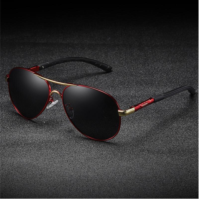 de homens óculos polarizados lente Brand Design Templos Sun óculos revestimento de espelho Óculos