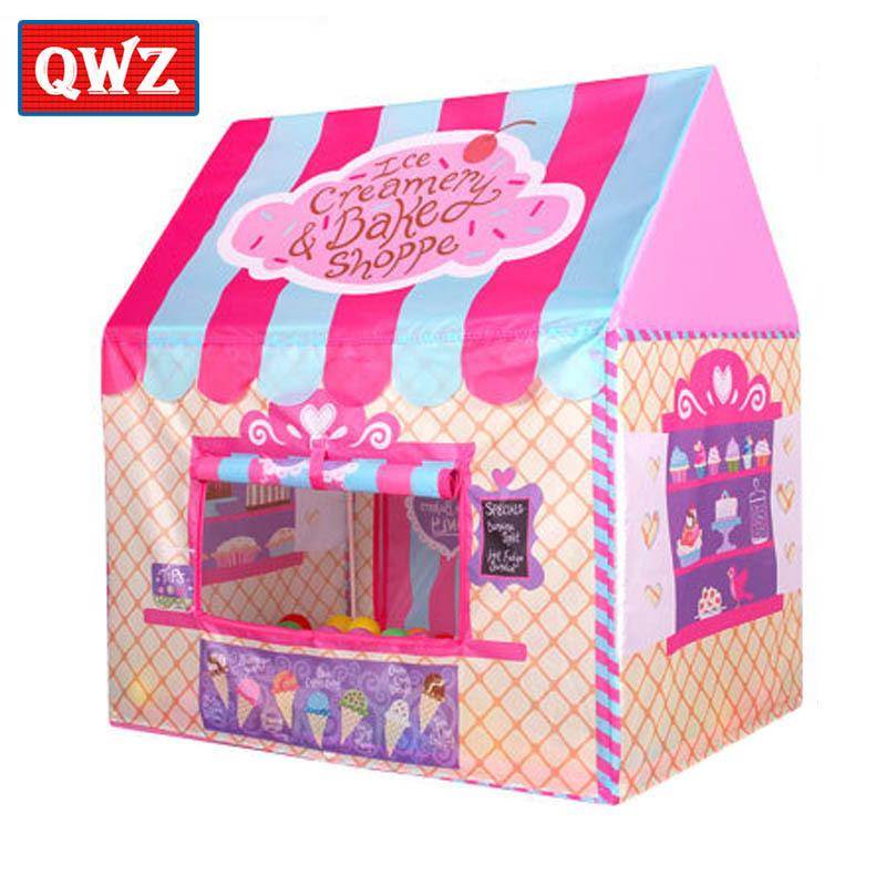 QWZ Kids Toys Tents Kids Play Tent Boy Girl Princess Castle Indoor Outdoor House Play Ball Pit Pool Playhouse for Kids Gift CX200713