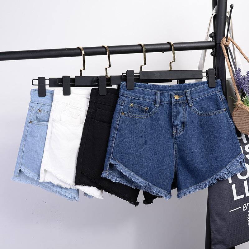 Женские джинсы повседневные женщины джинсовые шорты разорвали высокую талию тонкий летний феминино шикарные женские дна