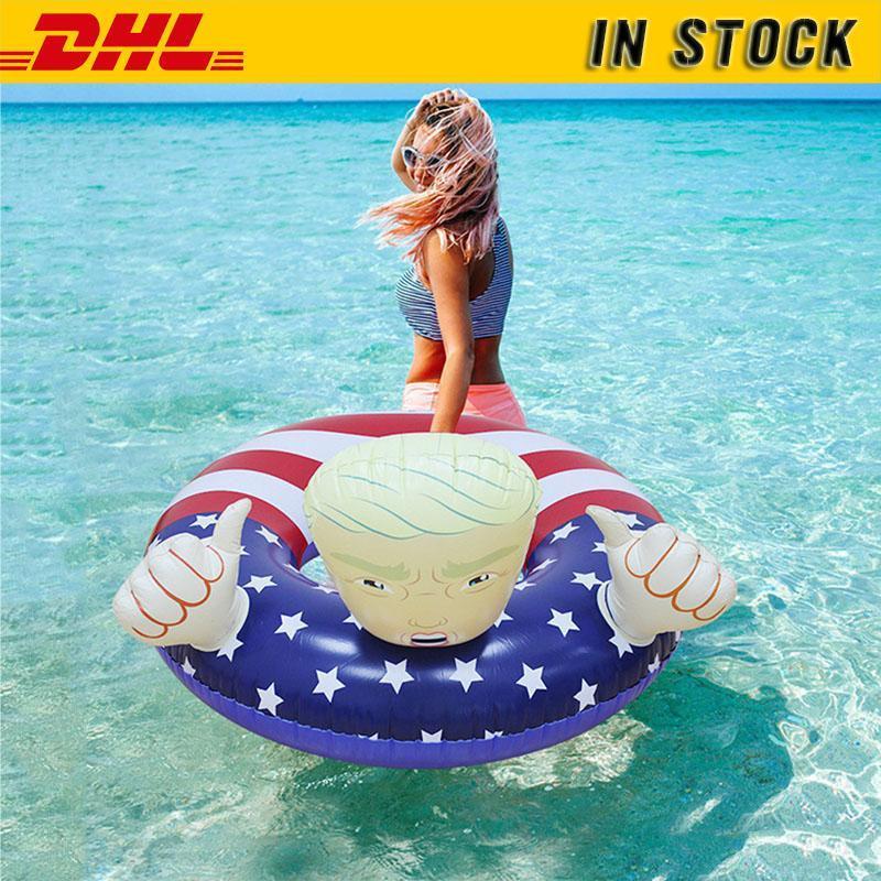 DHL Shipping! Float Piscina Bóia Em armazém Criativo PVC Trump natação anel inflável flutua Thicken Piscina para FY6078 Adultos Crianças