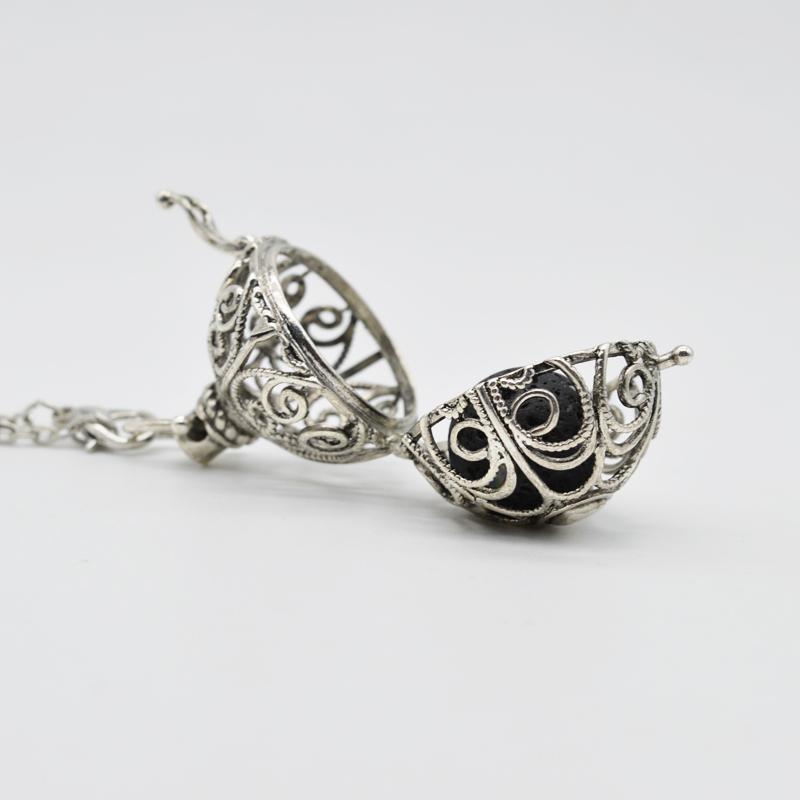 قلادة للنساء Engelsrufer قلادة مجوهرات من الضروري النفط الناشر قلادة مع الحمم الحجر المناجد ps0484