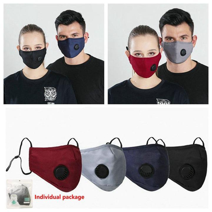 Маска для лица Anti-Dust с ушного дыхательным клапаном Регулируемого многоразового Mouth маски дышащего анти пыль Защитной 30pcs