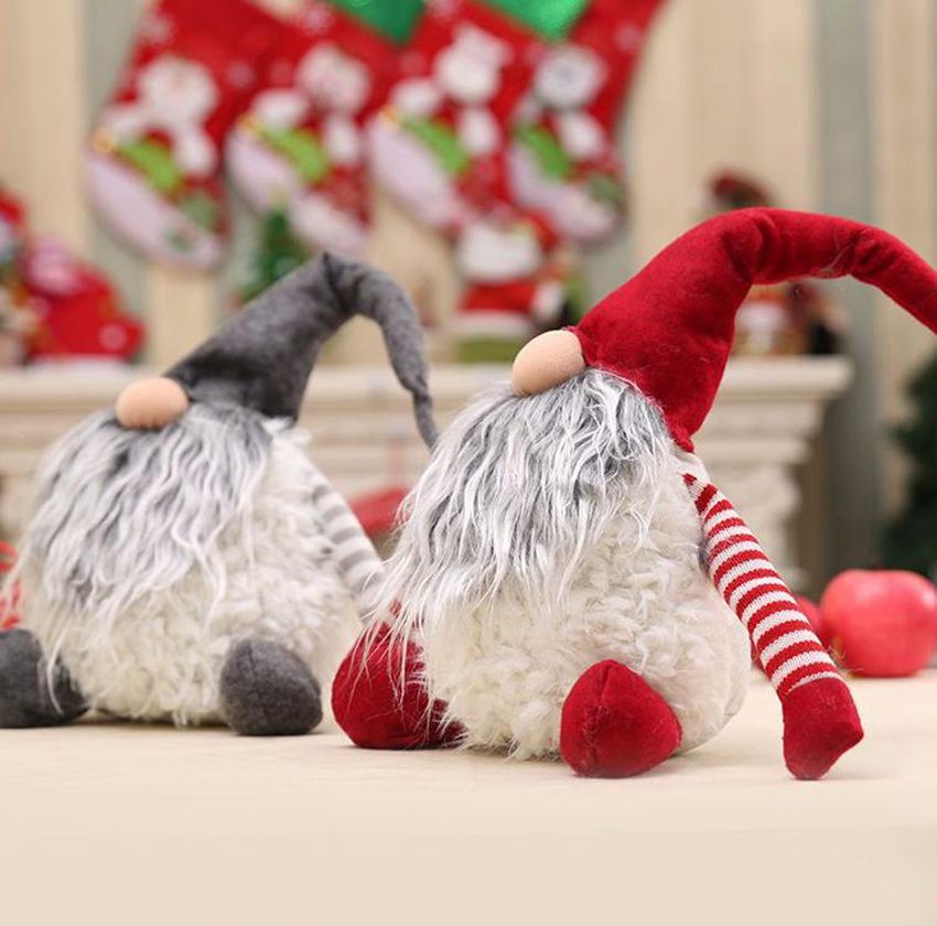 30CM لا وجه دمية بابا نويل عيد الميلاد السنة الجديدة هدية عيد الميلاد ديكور للمنزل القطيفة لصالح حزب هدية LJJK2389