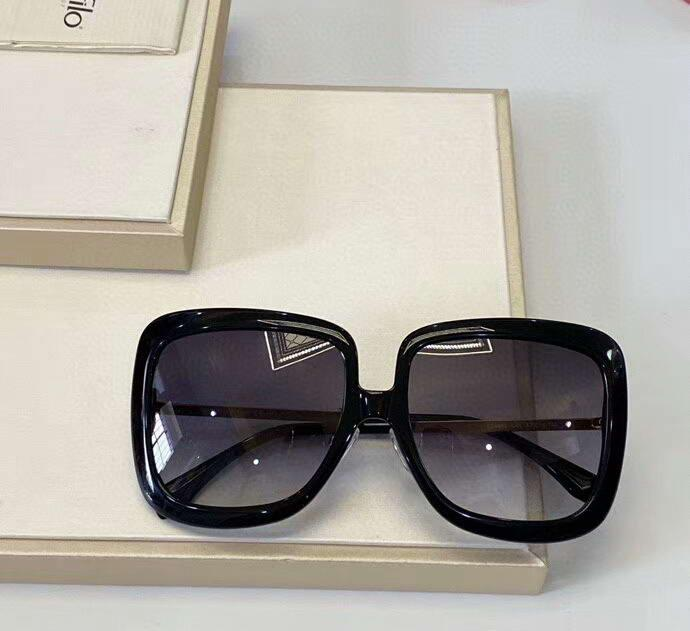 0402 Black/Dark Grey Sunglasses Oversize Square Frame Sonnenbrille gafas de sol Fashion Women Sunglasses Shades Sun Mask with Box