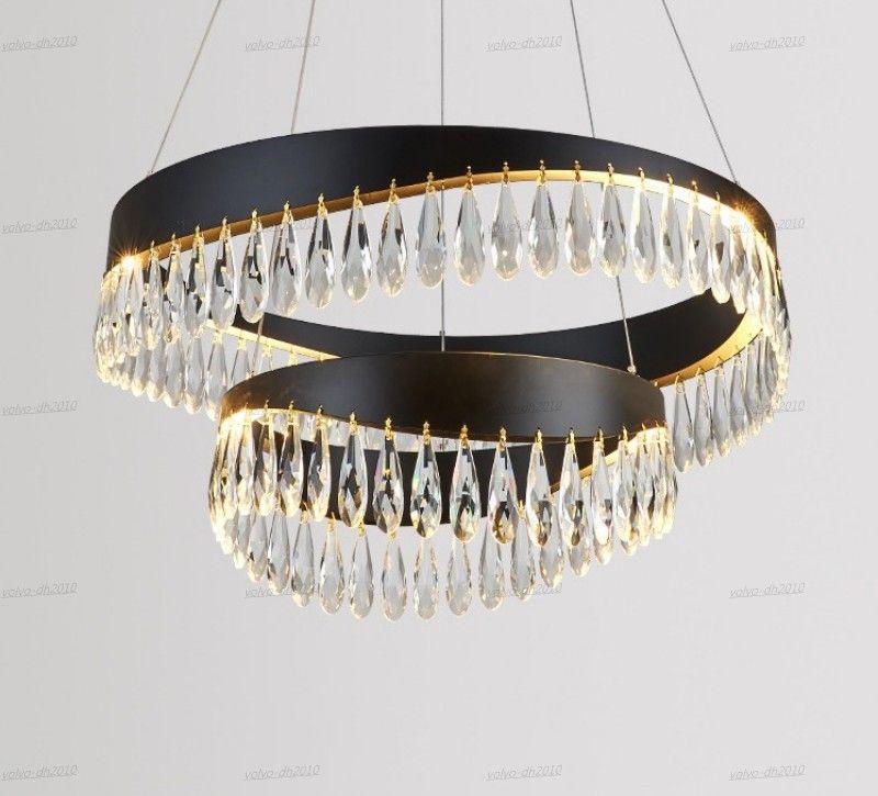 Lampadari in cristallo nero lampadario oro lampadario a sospensione illuminazione lampada da appendere cistal lustro cucina isola led luci al coperto soggiorno ristorante leggero infissi