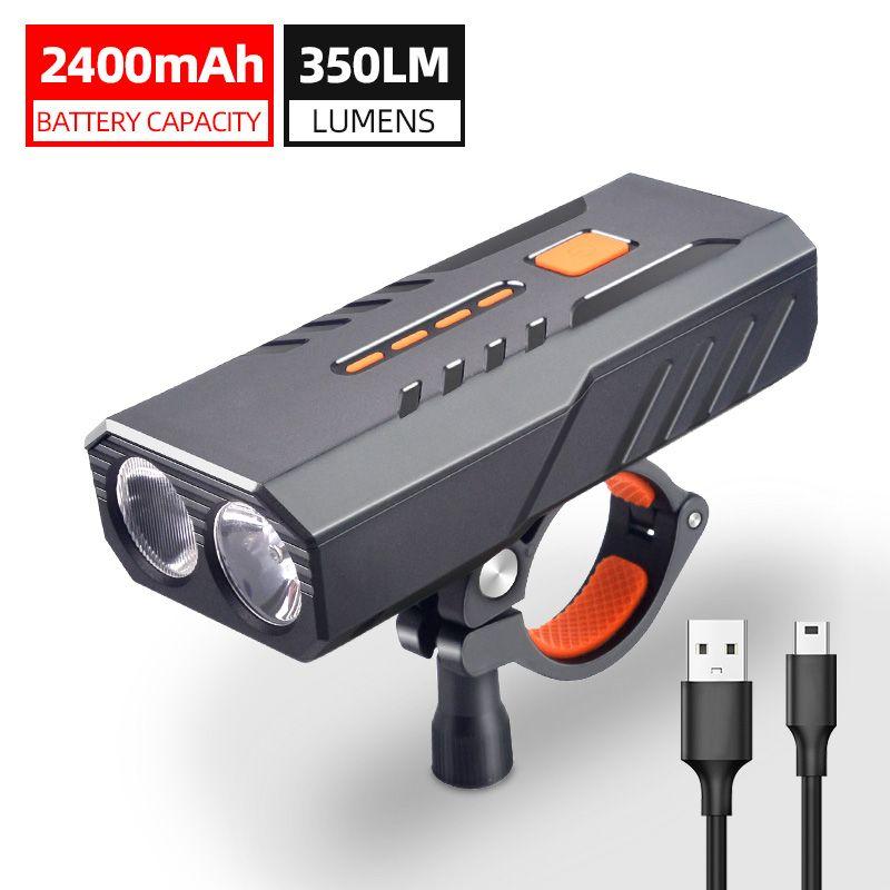 2400mAh Fahrrad-Licht-wasserdicht LED-Fahrrad-vordere Licht-Scheinwerfer USB aufladbare Radsport Zubehör wie Energien-Bank