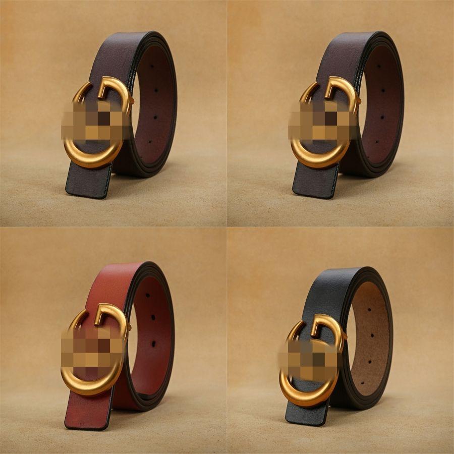 FEECANOO Hommes Ceintures Ceinture en cuir réel pour les hommes Buckle Homme Jeans Pantalons en métal Ceinture en cuir véritable Homme Bracelet # 414