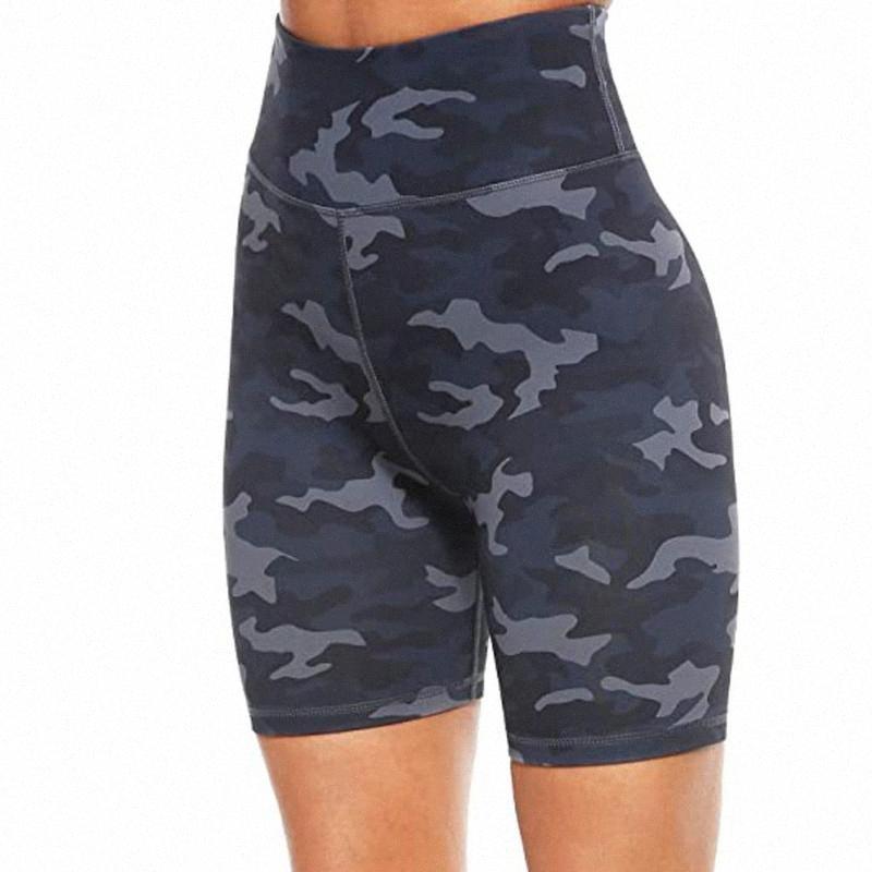 Bayanlar Yüksek Bel Baskı Egzersiz Yoga Şort Gizli Atletik Şort Bacaklar Sıkı Spor Pocket Spor Yoga Kısa Pantolon Oysf # Cepler