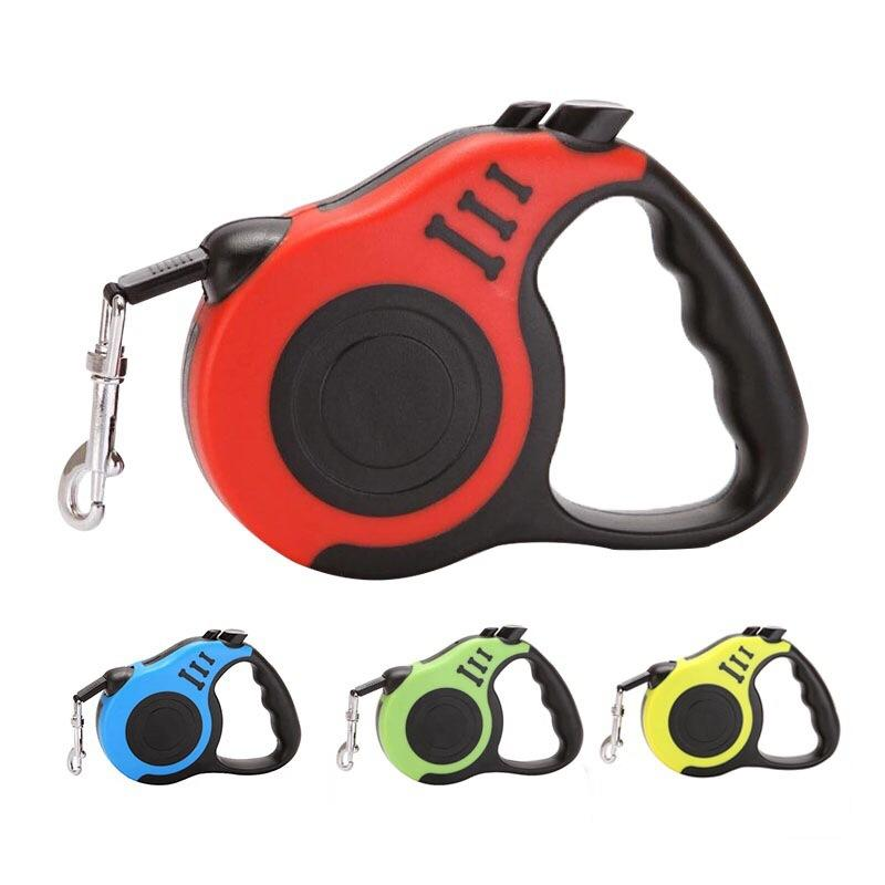 Cute Automatic Traction Dog Leashes Retractable Boy Dog Collars Outdoor Travel Dog Accessories 3M 5M Cool Pet Leash 2020 Cat Collar Cheap