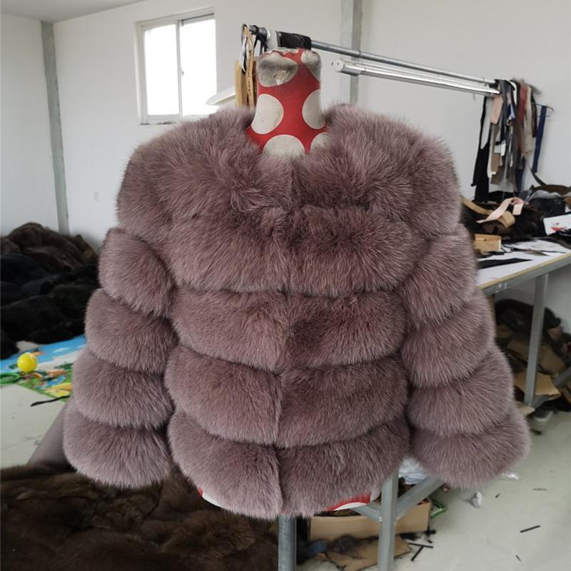 Kadın Kürk Faux Lavelache 2021 Gerçek Ceket 100% Doğal Ceket Kadınlar Kış Yelek Moda Ince Dış Giyim Streetwear