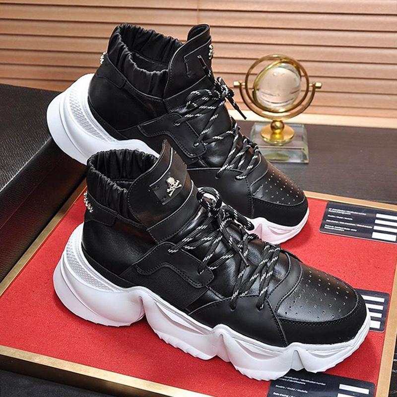 Haut Baskets montantes Monstre 0 .2 Chaussures Hommes de haute qualité dentelle -Up confortable et d'automne de sports d'hiver Lightweight Hommes Chaussures souples Footwears