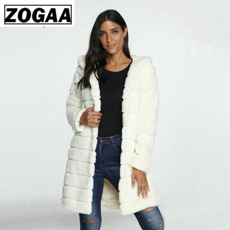 ZOGAA искусственного меха пальто зимы женщин 2020 вскользь Теплый Тонкий с длинным рукавом из искусственного меха пальто Зимняя куртка Женщины casaco feminino 1bB7 #
